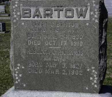 BARTOW, JONAH C. - Erie County, Ohio | JONAH C. BARTOW - Ohio Gravestone Photos