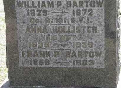 BARTOW, WILLIAM P. - Erie County, Ohio | WILLIAM P. BARTOW - Ohio Gravestone Photos