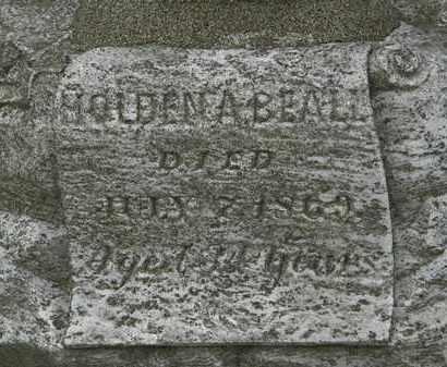 BEALL, HOLDEN A. - Erie County, Ohio | HOLDEN A. BEALL - Ohio Gravestone Photos