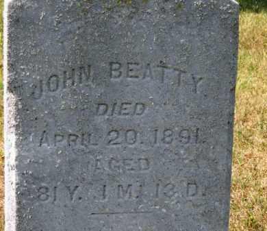 BEATTY, JOHN - Erie County, Ohio | JOHN BEATTY - Ohio Gravestone Photos