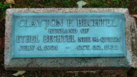 MCQUEEN BECHTEL, ETHEL - Erie County, Ohio   ETHEL MCQUEEN BECHTEL - Ohio Gravestone Photos