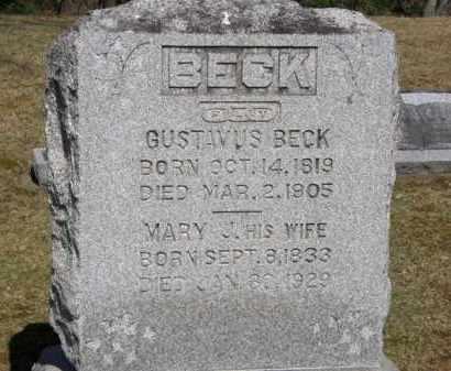 BECK, MARY J. - Erie County, Ohio | MARY J. BECK - Ohio Gravestone Photos