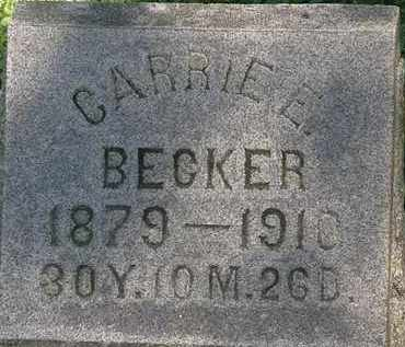BECKER, CARRIE E. - Erie County, Ohio | CARRIE E. BECKER - Ohio Gravestone Photos