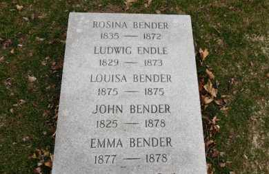 BENDER, EMMA - Erie County, Ohio | EMMA BENDER - Ohio Gravestone Photos