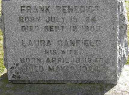 CANFIELD BENEDICT, LAURA - Erie County, Ohio | LAURA CANFIELD BENEDICT - Ohio Gravestone Photos