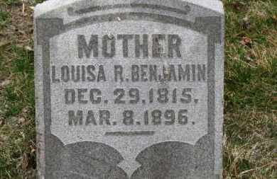 BENJAMIN, LOUISA R. - Erie County, Ohio | LOUISA R. BENJAMIN - Ohio Gravestone Photos