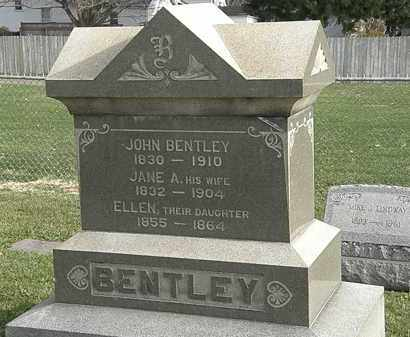 BENTLEY, JANE - Erie County, Ohio | JANE BENTLEY - Ohio Gravestone Photos
