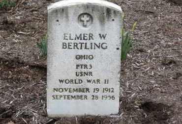 BERTLING, ELMER W. - Erie County, Ohio | ELMER W. BERTLING - Ohio Gravestone Photos