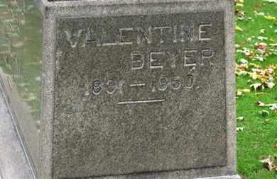 BRAUN, VALENTINE BEYER - Erie County, Ohio   VALENTINE BEYER BRAUN - Ohio Gravestone Photos