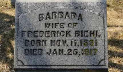 BIEHL, BARBARA - Erie County, Ohio   BARBARA BIEHL - Ohio Gravestone Photos