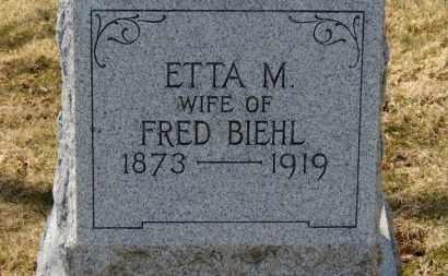 BIEHL, ETTA M. - Erie County, Ohio | ETTA M. BIEHL - Ohio Gravestone Photos