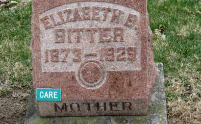BITTER, ELIZABETH B. - Erie County, Ohio | ELIZABETH B. BITTER - Ohio Gravestone Photos