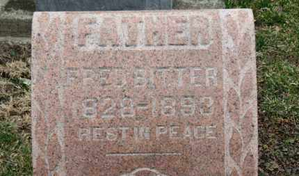 BITTER, FRED - Erie County, Ohio | FRED BITTER - Ohio Gravestone Photos