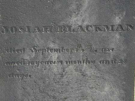 BLACKMAN, JOSIAH - Erie County, Ohio | JOSIAH BLACKMAN - Ohio Gravestone Photos