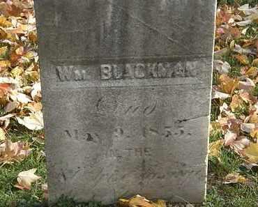 BLACKMAN, WM. - Erie County, Ohio | WM. BLACKMAN - Ohio Gravestone Photos