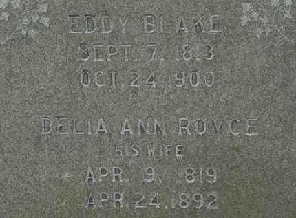 BLAKE, EDDY - Erie County, Ohio | EDDY BLAKE - Ohio Gravestone Photos
