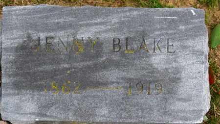 BLAKE, JENNY - Erie County, Ohio | JENNY BLAKE - Ohio Gravestone Photos