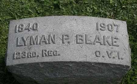 BLAKE, LYMAN P. - Erie County, Ohio | LYMAN P. BLAKE - Ohio Gravestone Photos
