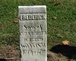 BONNER, FREDERICK - Erie County, Ohio   FREDERICK BONNER - Ohio Gravestone Photos