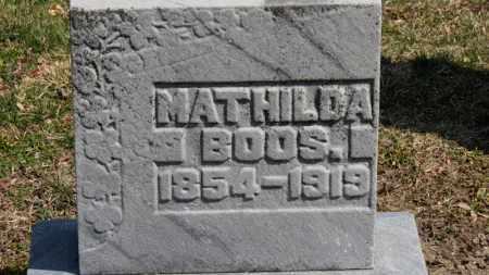 BOOS, MATHILDA - Erie County, Ohio | MATHILDA BOOS - Ohio Gravestone Photos