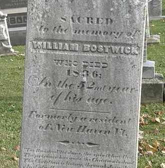 BOSTWICK, WILLIAM - Erie County, Ohio | WILLIAM BOSTWICK - Ohio Gravestone Photos