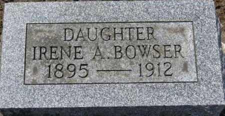 BOWSER, IRENE A. - Erie County, Ohio   IRENE A. BOWSER - Ohio Gravestone Photos