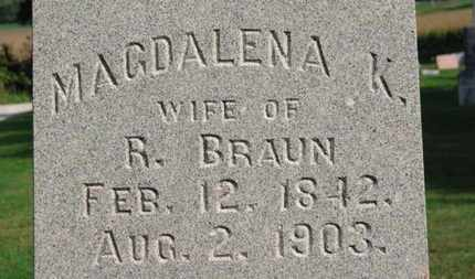 BRAUN, MAGDALENA K. - Erie County, Ohio | MAGDALENA K. BRAUN - Ohio Gravestone Photos