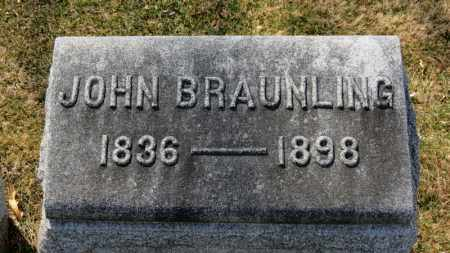 BRAUNLING, JOHN - Erie County, Ohio | JOHN BRAUNLING - Ohio Gravestone Photos