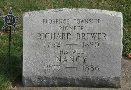 BREWER, RICHARD - Erie County, Ohio | RICHARD BREWER - Ohio Gravestone Photos