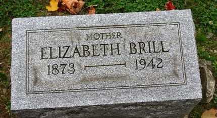 BRILL, ELIZABETH - Erie County, Ohio   ELIZABETH BRILL - Ohio Gravestone Photos