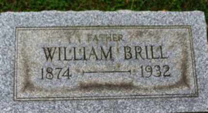 BRILL, WILLIAM - Erie County, Ohio | WILLIAM BRILL - Ohio Gravestone Photos