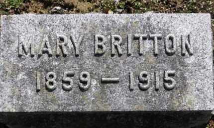 BRITTON, MARY - Erie County, Ohio | MARY BRITTON - Ohio Gravestone Photos