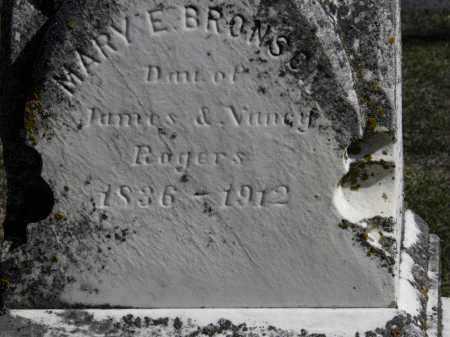ROGERS BRONSON, MARY E. - Erie County, Ohio | MARY E. ROGERS BRONSON - Ohio Gravestone Photos