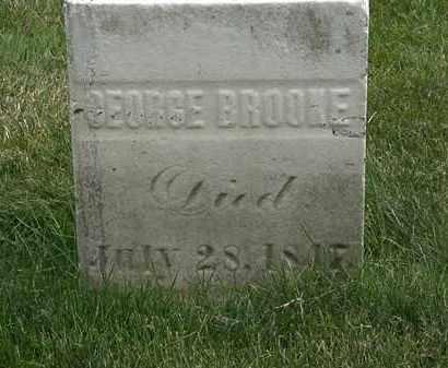 BROOKE, GEORGE - Erie County, Ohio | GEORGE BROOKE - Ohio Gravestone Photos
