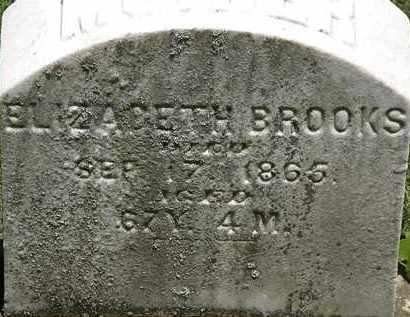 BROOKS, ELIZABETH - Erie County, Ohio | ELIZABETH BROOKS - Ohio Gravestone Photos