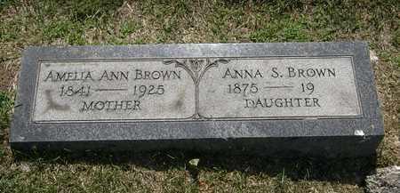 BROWN, ANNA S. - Erie County, Ohio   ANNA S. BROWN - Ohio Gravestone Photos