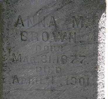 BROWN, ANNA M. - Erie County, Ohio   ANNA M. BROWN - Ohio Gravestone Photos
