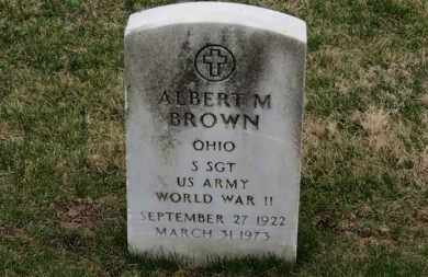 BROWN, ALBERT M. - Erie County, Ohio | ALBERT M. BROWN - Ohio Gravestone Photos