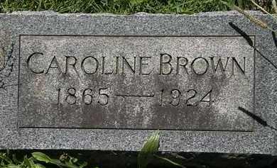 BROWN, CAROLINE - Erie County, Ohio   CAROLINE BROWN - Ohio Gravestone Photos