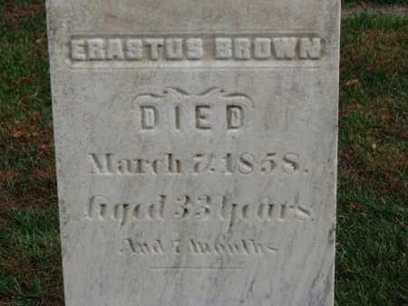 BROWN, ERASTUS - Erie County, Ohio | ERASTUS BROWN - Ohio Gravestone Photos