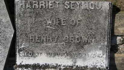 SEYMOUR BROWN, HARRIET - Erie County, Ohio | HARRIET SEYMOUR BROWN - Ohio Gravestone Photos