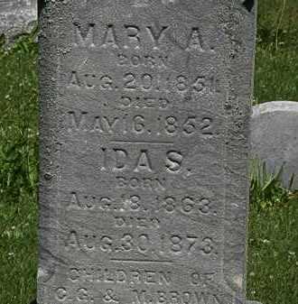 BROWN, MARY A. - Erie County, Ohio | MARY A. BROWN - Ohio Gravestone Photos