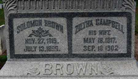 BROWN, SOLOMON - Erie County, Ohio | SOLOMON BROWN - Ohio Gravestone Photos