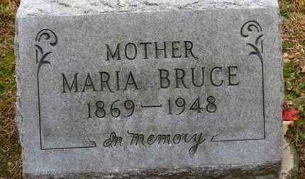 BRUCE, MARRIA - Erie County, Ohio   MARRIA BRUCE - Ohio Gravestone Photos