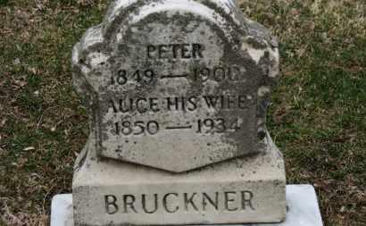 BRUCKNER, PETER - Erie County, Ohio | PETER BRUCKNER - Ohio Gravestone Photos