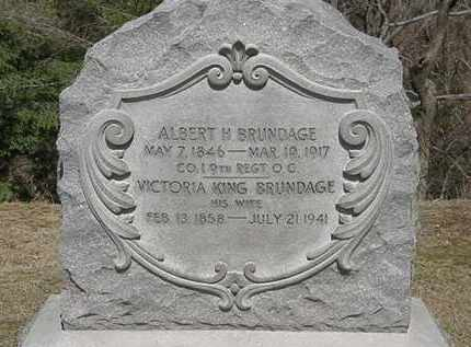 KING BRUNDAGE, VICTORIA - Erie County, Ohio | VICTORIA KING BRUNDAGE - Ohio Gravestone Photos