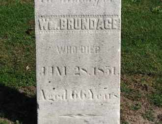 BRUNDAGE, WM. - Erie County, Ohio   WM. BRUNDAGE - Ohio Gravestone Photos