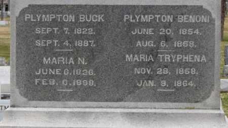 BUCK, PLYMPTON - Erie County, Ohio | PLYMPTON BUCK - Ohio Gravestone Photos