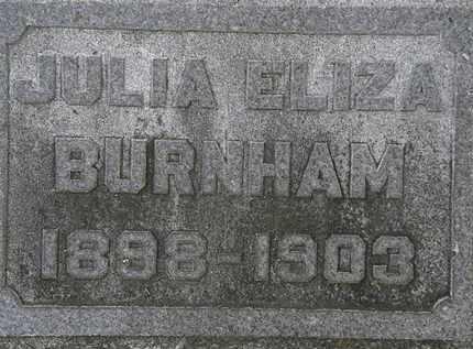 BURNHAM, JULIA ELIZA - Erie County, Ohio | JULIA ELIZA BURNHAM - Ohio Gravestone Photos