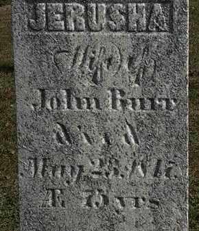 BURR, JERUSHA - Erie County, Ohio   JERUSHA BURR - Ohio Gravestone Photos